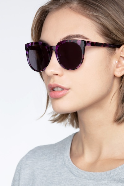 Queen Purple Tortoise Acetate Sunglass Frames for Women from EyeBuyDirect
