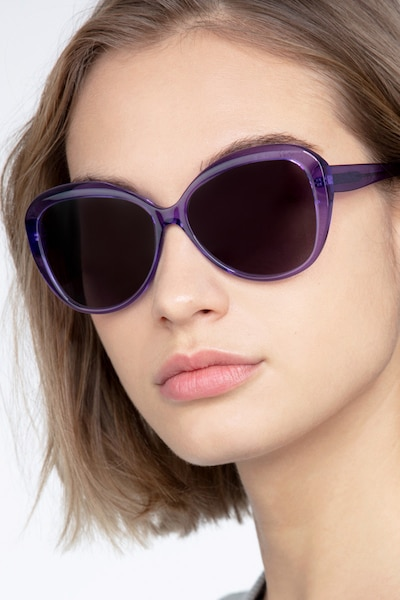 Believe Purple Acetate Sunglass Frames for Women from EyeBuyDirect