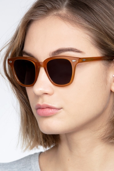 Sao Paulo Brown Acetate Sunglass Frames for Women from EyeBuyDirect