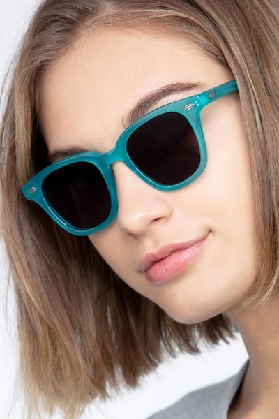 Sao Paulo Turquoise Acétate Soleil de Lunettes pour Femmes d'EyeBuyDirect