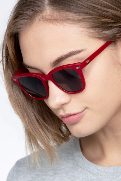 Sao Paulo Rouge Acetate Sunglass Frames for Women from EyeBuyDirect