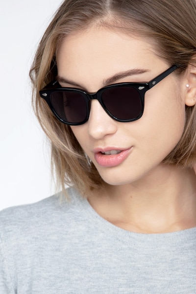 Sao Paulo Black Acetate Sunglass Frames for Women from EyeBuyDirect