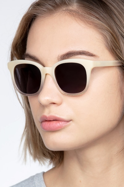 Quartz Ivory Acetate Sunglass Frames for Women from EyeBuyDirect