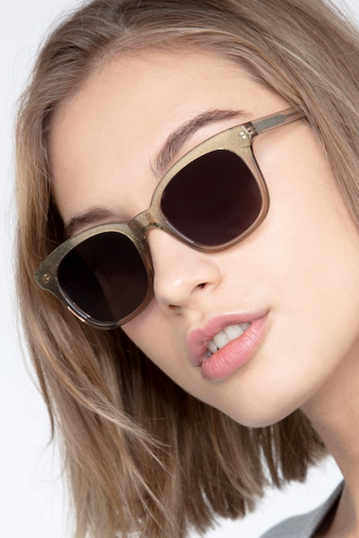 Quartz Golden Acetate Sunglass Frames for Women from EyeBuyDirect
