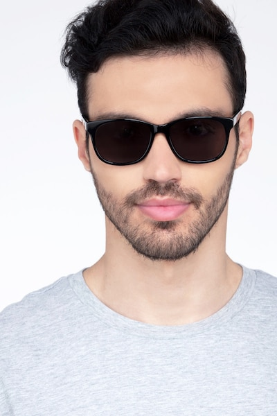 Borneo Black Acetate Sunglass Frames for Men from EyeBuyDirect