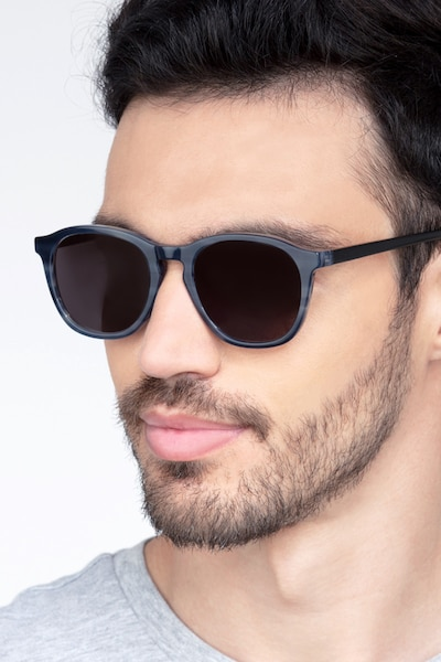 Acapulco Striped Acetate Sunglass Frames for Men from EyeBuyDirect