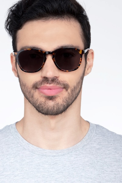 Acapulco Tortoise Acetate Sunglass Frames for Men from EyeBuyDirect, Front View