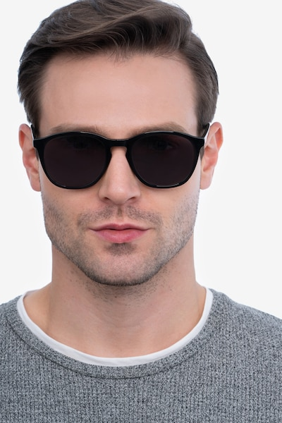 Acapulco Black Acetate Sunglass Frames for Men from EyeBuyDirect, Front View