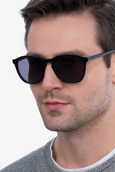 Acapulco Black Acetate Sunglass Frames for Men from EyeBuyDirect