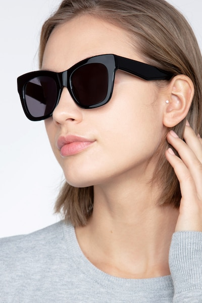 Calico Black Acetate Sunglass Frames for Women from EyeBuyDirect