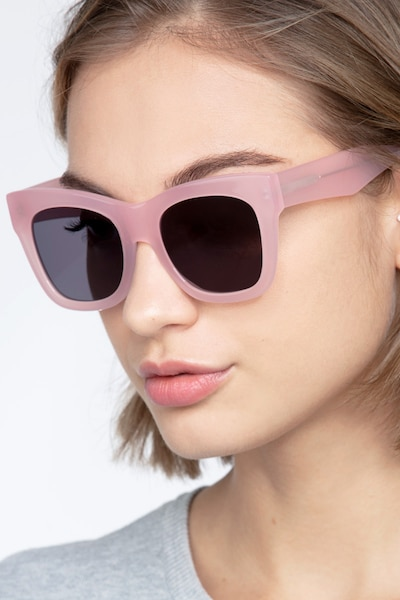 Calico Pink Acetate Sunglass Frames for Women from EyeBuyDirect