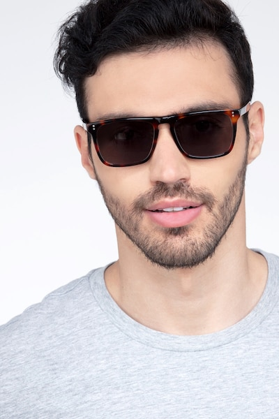 Cantina Tortoise Acetate Sunglass Frames for Men from EyeBuyDirect