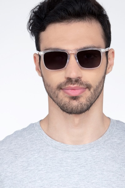 Cantina Clear Acetate Sunglass Frames for Men from EyeBuyDirect