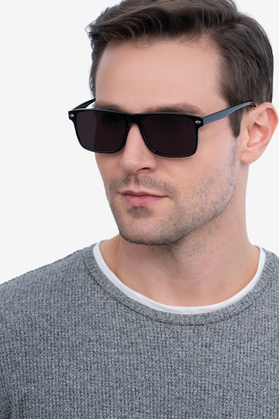 Cortez Black Plastic Sunglass Frames for Men from EyeBuyDirect