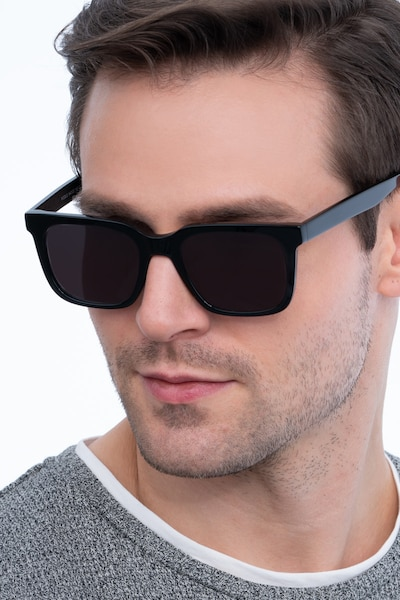 Riddle Black Acetate Sunglass Frames for Men from EyeBuyDirect