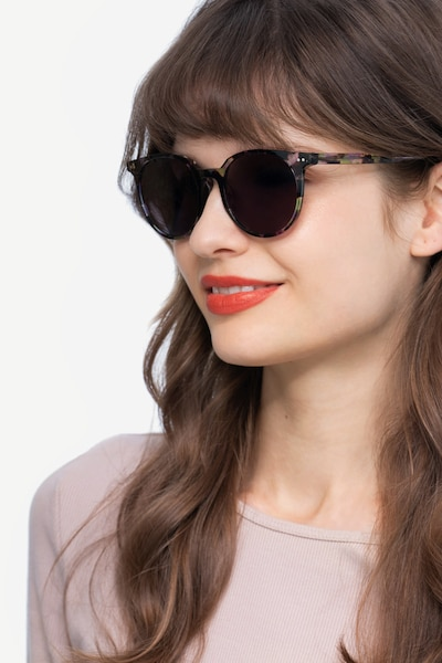 Hideout Purple Tortoise Acetate Sunglass Frames for Women from EyeBuyDirect