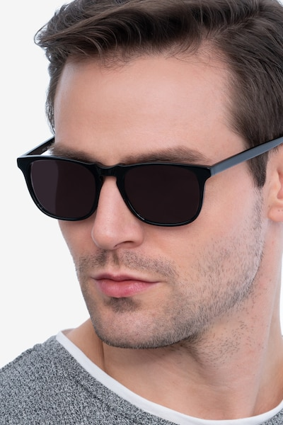 Wave Black Acetate Sunglass Frames for Men from EyeBuyDirect