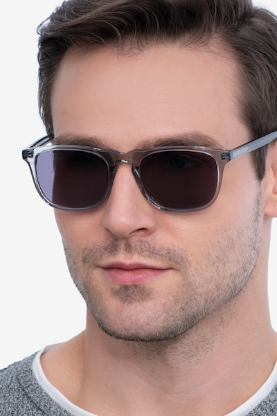 Wave Gray Acetate Sunglass Frames for Men from EyeBuyDirect