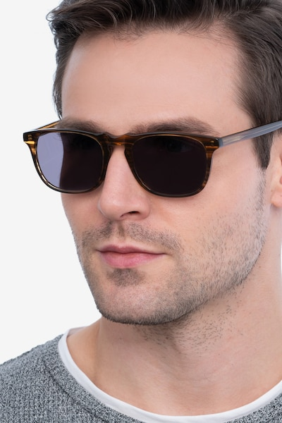 Wave Striped Acetate Sunglass Frames for Men from EyeBuyDirect