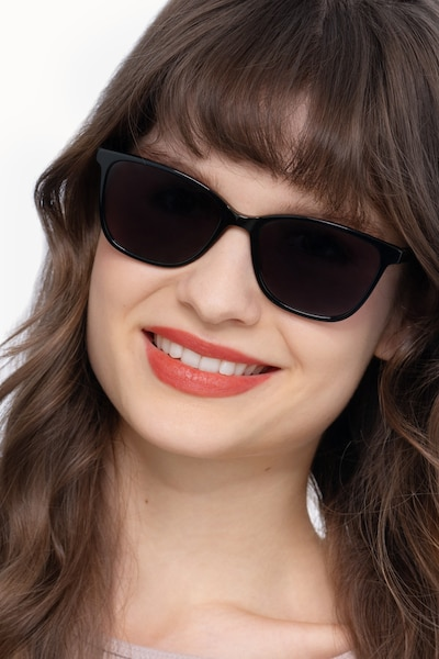 Halle Black Acetate Sunglass Frames for Women from EyeBuyDirect