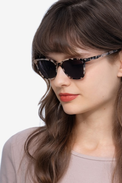 Halle Tortoise Acetate Sunglass Frames for Women from EyeBuyDirect, Front View