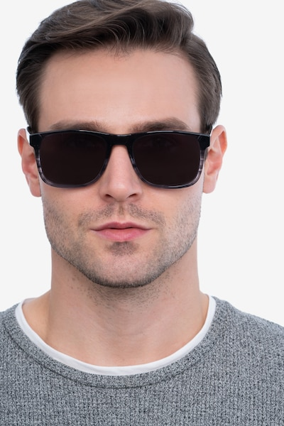 Kudos Gray Acetate Sunglass Frames for Men from EyeBuyDirect, Front View