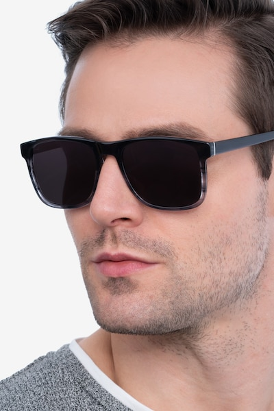 Kudos Gray Acetate Sunglass Frames for Men from EyeBuyDirect