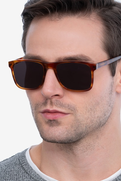 Kudos Brown Acetate Sunglass Frames for Men from EyeBuyDirect