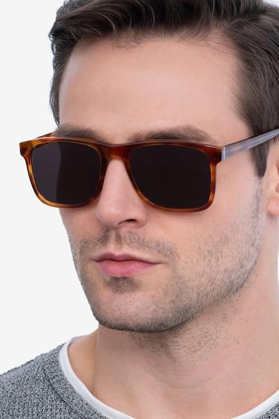 Kudos Marron Acétate Soleil de Lunettes pour Hommes d'EyeBuyDirect