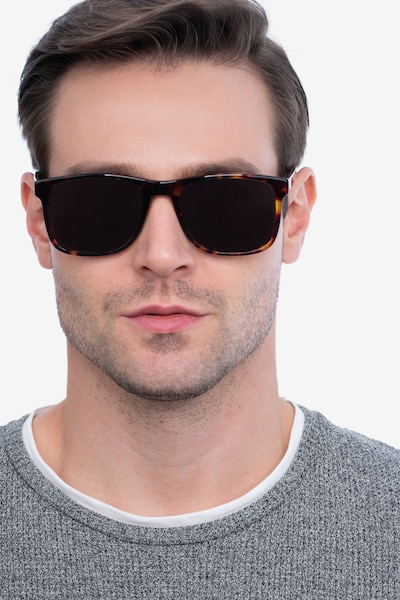 Kudos Tortoise Acetate Sunglass Frames for Men from EyeBuyDirect, Front View