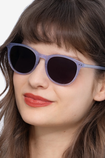 Rhythm Purple Striped Acetate Sunglass Frames for Women from EyeBuyDirect