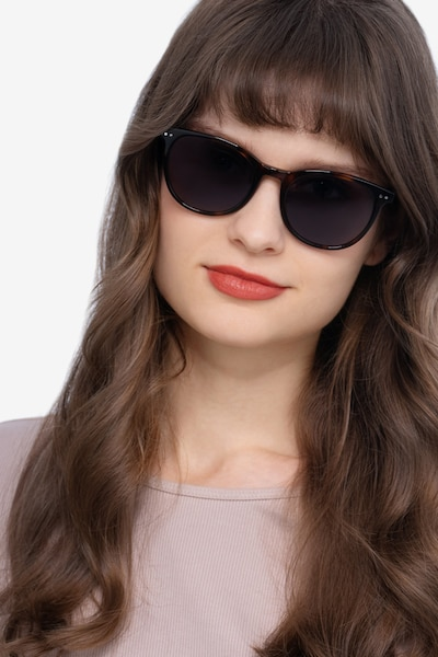 Rhythm Tortoise Acetate Sunglass Frames for Women from EyeBuyDirect, Front View