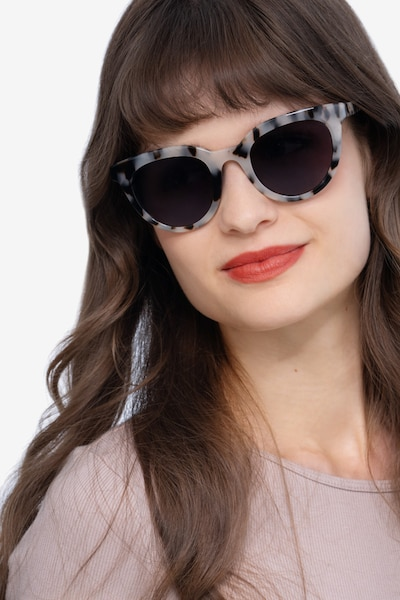 Cherish Ivory Tortoise Acetate Sunglass Frames for Women from EyeBuyDirect, Front View