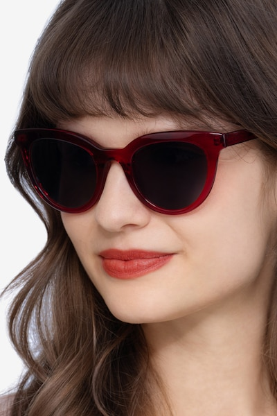 Cherish Red Acetate Sunglass Frames for Women from EyeBuyDirect