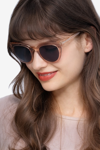 Cherish Champagne Acetate Sunglass Frames for Women from EyeBuyDirect, Front View