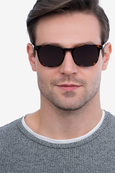 Soleil Tortoise Acetate Sunglass Frames for Men from EyeBuyDirect, Front View