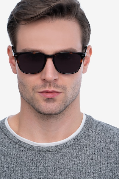 City Tortoise Acetate Sunglass Frames for Men from EyeBuyDirect, Front View