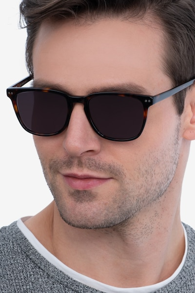 City Tortoise Acetate Sunglass Frames for Men from EyeBuyDirect