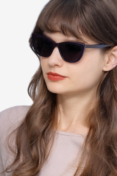 Sun Charlotte Purple Acetate Sunglass Frames for Women from EyeBuyDirect