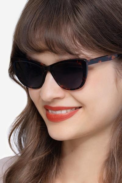 Sun Charlotte Écailles Acétate Soleil de Lunettes pour Femmes d'EyeBuyDirect
