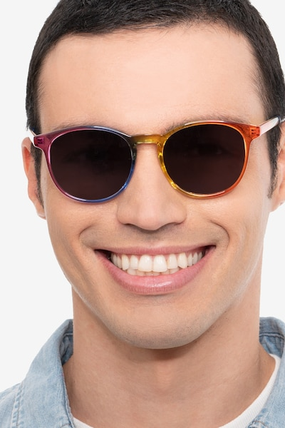 Power Rainbow Plastic Sunglass Frames for Men from EyeBuyDirect
