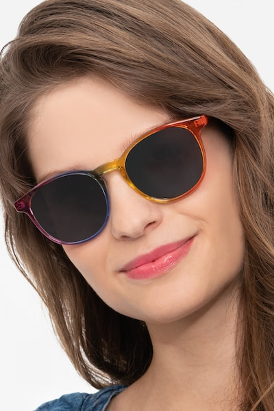 Power Rainbow Plastic Sunglass Frames for Women from EyeBuyDirect