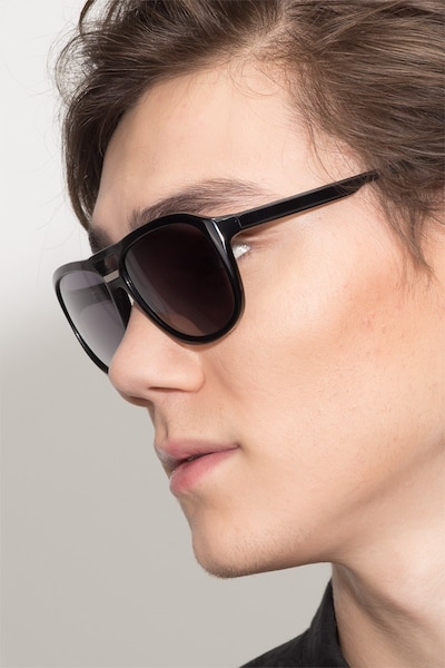 Blair Black Acetate Sunglass Frames for Men from EyeBuyDirect
