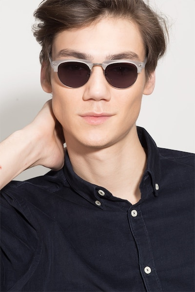 The Hamptons  Clear Silver  Metal Sunglass Frames for Men from EyeBuyDirect