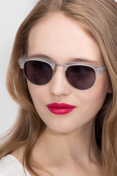 The Hamptons  Clear Silver  Acetate Sunglass Frames for Women from EyeBuyDirect