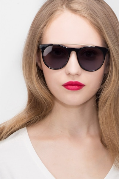 Miami Vice Black Metal Sunglass Frames for Women from EyeBuyDirect