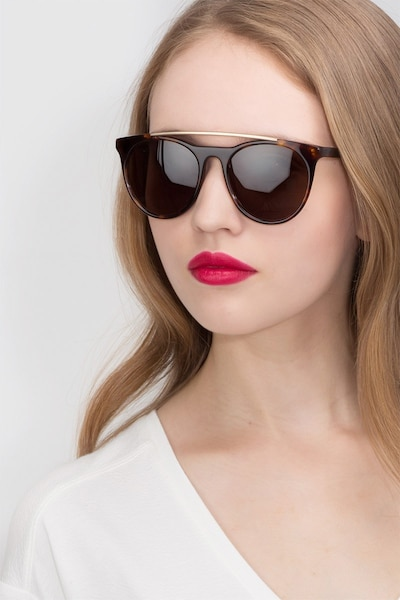 Miami Vice Tortoise Acetate Sunglass Frames for Women from EyeBuyDirect
