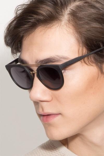 Bali Black/Golden Acetate Sunglass Frames for Men from EyeBuyDirect