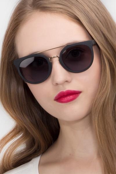 Bali Black/Golden Acetate Sunglass Frames for Women from EyeBuyDirect