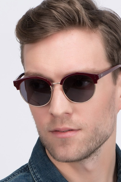 Limoncello Red Acetate Sunglass Frames for Men from EyeBuyDirect